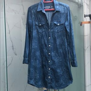 Like new Gap denim shirt dress button down sz XS
